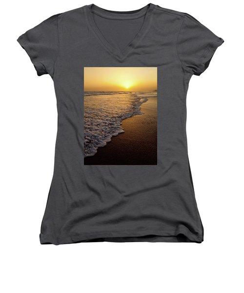 Beach Sunset Women's V-Neck (Athletic Fit)