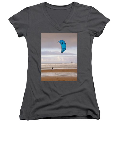 Beach Surfer Women's V-Neck (Athletic Fit)