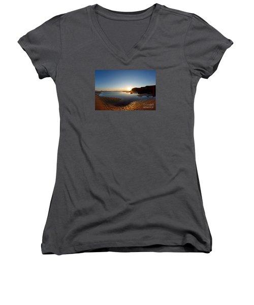 Beach Textures Women's V-Neck