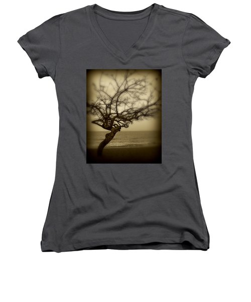 Beach Tree Women's V-Neck T-Shirt