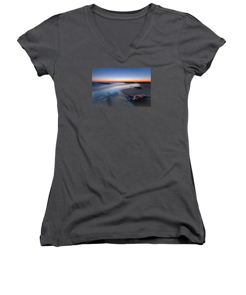 Beach View 2 Women's V-Neck T-Shirt (Junior Cut) by Catherine Lau