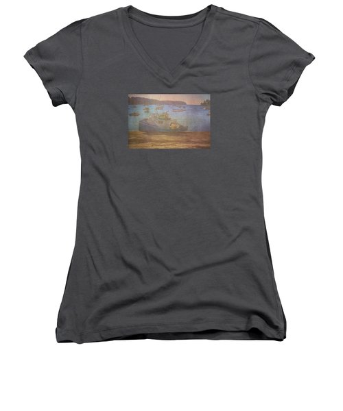 Beached For Cleaning Women's V-Neck T-Shirt (Junior Cut) by Tom Singleton