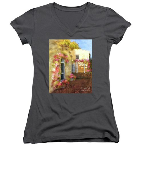 Women's V-Neck T-Shirt (Junior Cut) featuring the digital art Beallair In Bloom by Lois Bryan