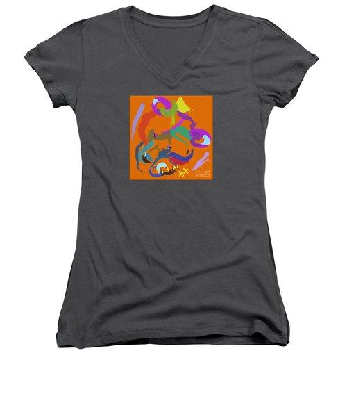 Bear  Women's V-Neck T-Shirt