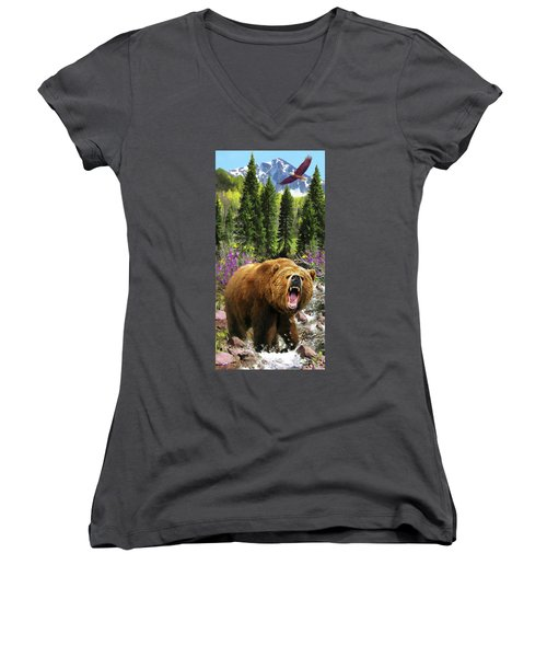 Bear Necessities Iv Women's V-Neck (Athletic Fit)