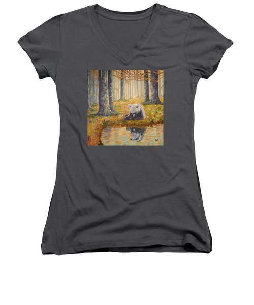 Bear Reflecting Women's V-Neck
