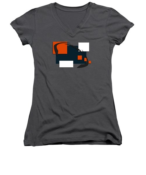 Bears Abstract Shirt Women's V-Neck T-Shirt (Junior Cut) by Joe Hamilton