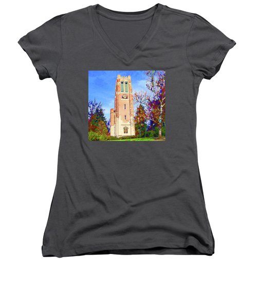 Beaumont Tower Women's V-Neck (Athletic Fit)
