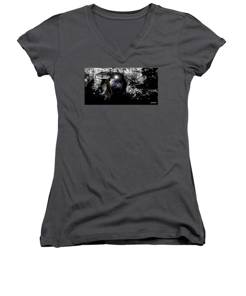 Beauties Are Things That Are Lit Inside Us Women's V-Neck T-Shirt (Junior Cut) by Paulo Zerbato