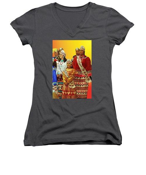 Beauties Grand Entrance Women's V-Neck T-Shirt (Junior Cut) by Audrey Robillard
