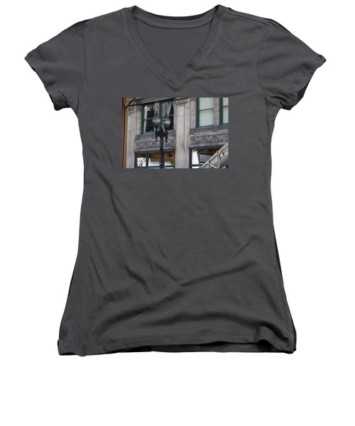 Beautiful Chicago Gothic Grunge Women's V-Neck