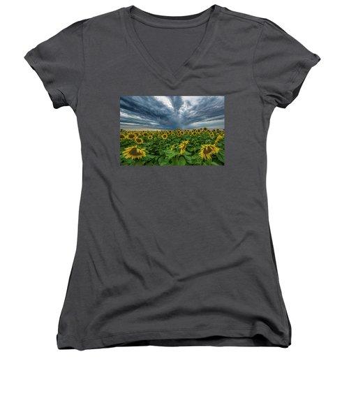 Beautiful Disaster  Women's V-Neck T-Shirt