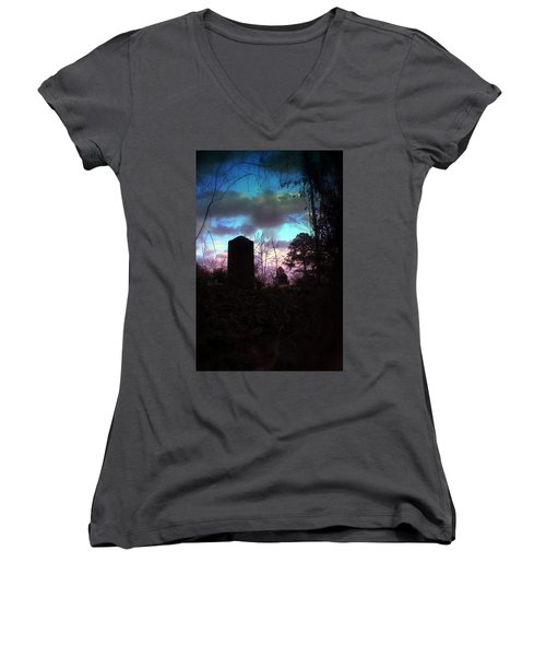 Beautiful Evening In The Graveyard Women's V-Neck (Athletic Fit)
