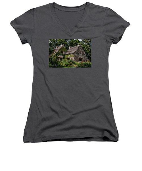 Women's V-Neck T-Shirt (Junior Cut) featuring the photograph Beautiful Home by Joann Copeland-Paul