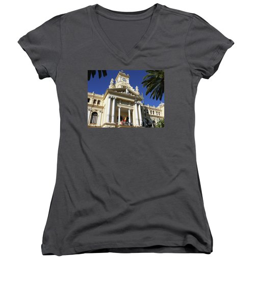 Beautiful Malaga City Hall Women's V-Neck