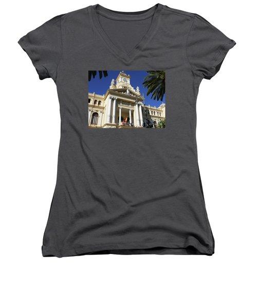 Beautiful Malaga City Hall Women's V-Neck