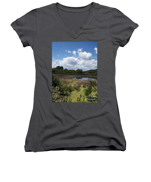 Beautiful Marsh View Women's V-Neck (Athletic Fit)