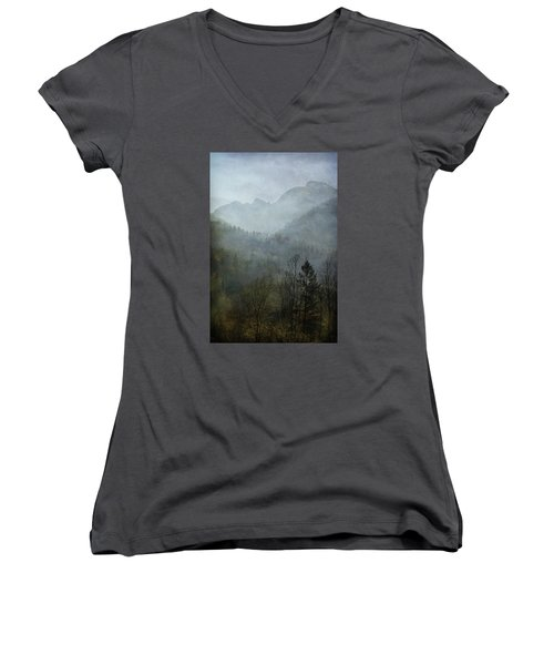 Beautiful Mist Women's V-Neck (Athletic Fit)