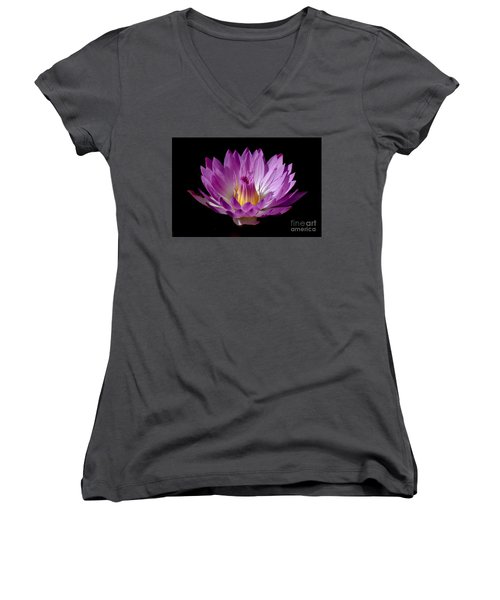 Beautiful Pink Pearl Lily Women's V-Neck (Athletic Fit)