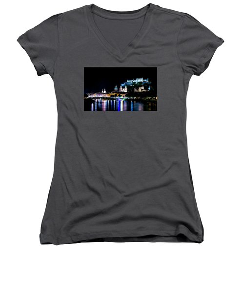 Women's V-Neck T-Shirt featuring the photograph Beautiful Salzburg by David Morefield
