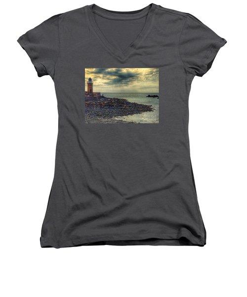 Beautiful Skies At Portpatrick 2 Women's V-Neck T-Shirt