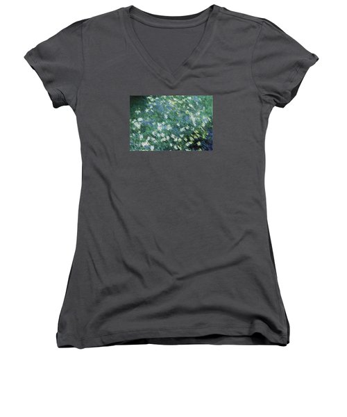 Beautiful Summer Blues Women's V-Neck T-Shirt (Junior Cut) by The Art Of Marilyn Ridoutt-Greene
