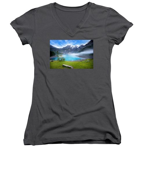 Beautiful Switzerland Women's V-Neck T-Shirt
