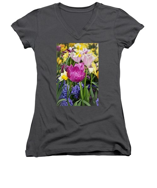 Beautiful Time Of Year Women's V-Neck T-Shirt (Junior Cut) by Mike Martin