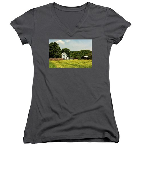 Beautiful West Virginia Women's V-Neck T-Shirt (Junior Cut) by L O C