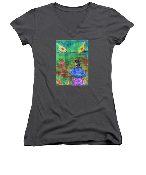Beauty Above Women's V-Neck (Athletic Fit)