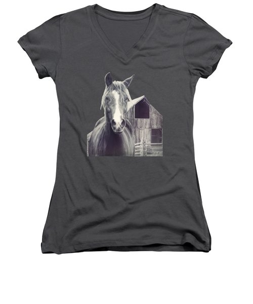 Beauty And The Barn Women's V-Neck