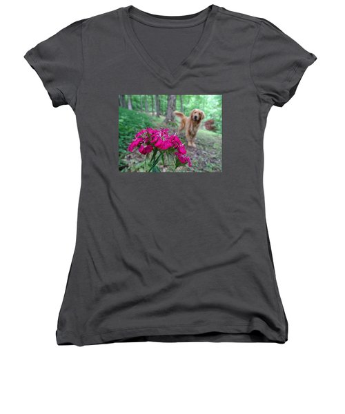 Beauty And The Beast. Women's V-Neck (Athletic Fit)