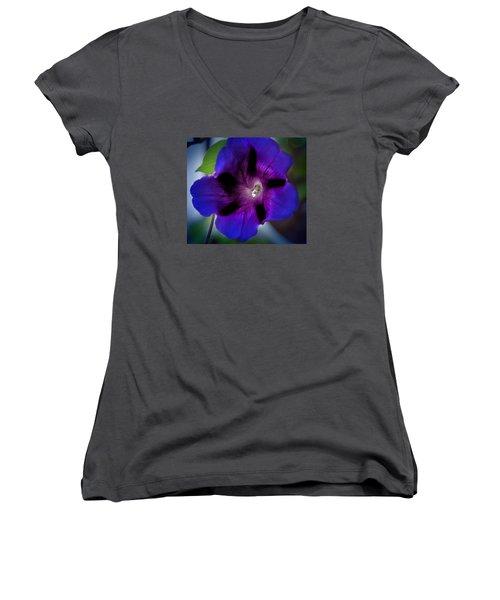 Beauty In Blue Women's V-Neck T-Shirt (Junior Cut) by Milena Ilieva