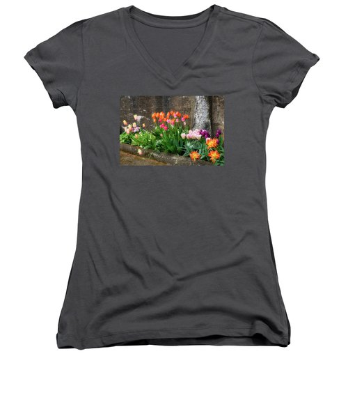 Women's V-Neck featuring the photograph Beauty In Ruins by Michael Hubley