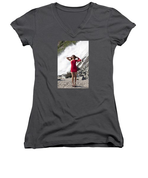 Beauty In Wilderness Women's V-Neck T-Shirt