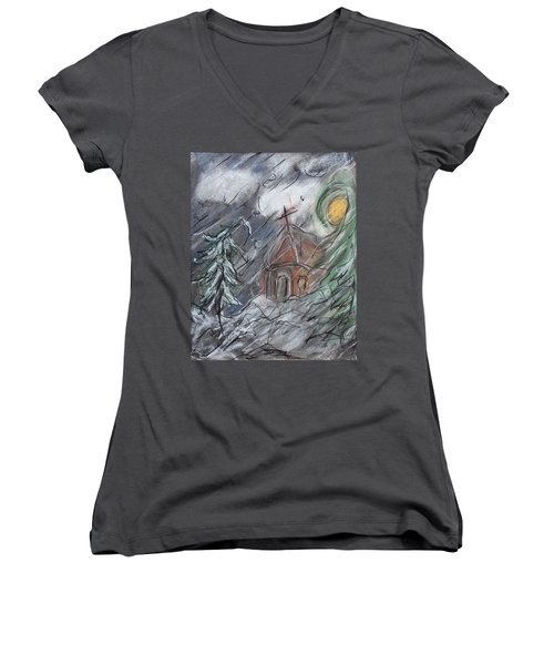 Beauty Of Winter Women's V-Neck