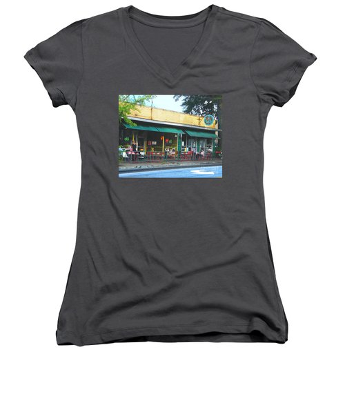 Beauty Shop And Do  Cooper Young Memphis Women's V-Neck