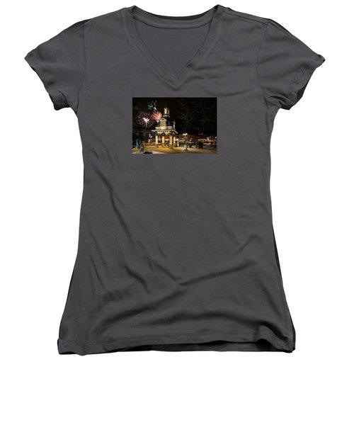 Beaver Light Up Night  Women's V-Neck T-Shirt