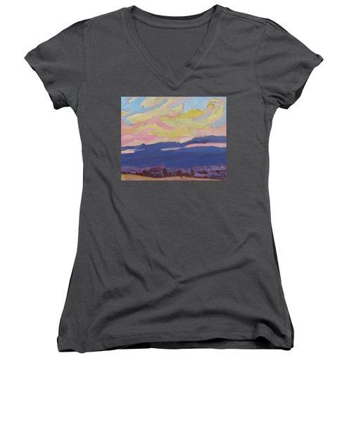 Beaver Sunset Women's V-Neck T-Shirt