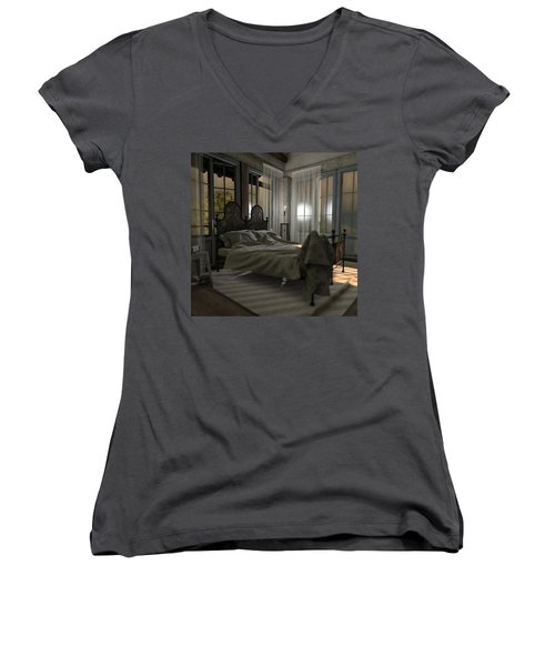 Bedroom Women's V-Neck T-Shirt