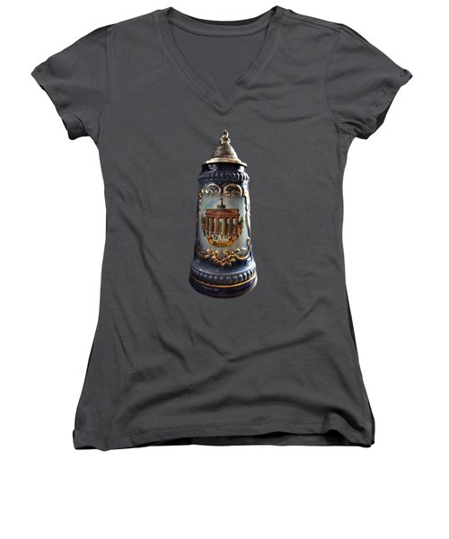 Beer Stein Women's V-Neck (Athletic Fit)