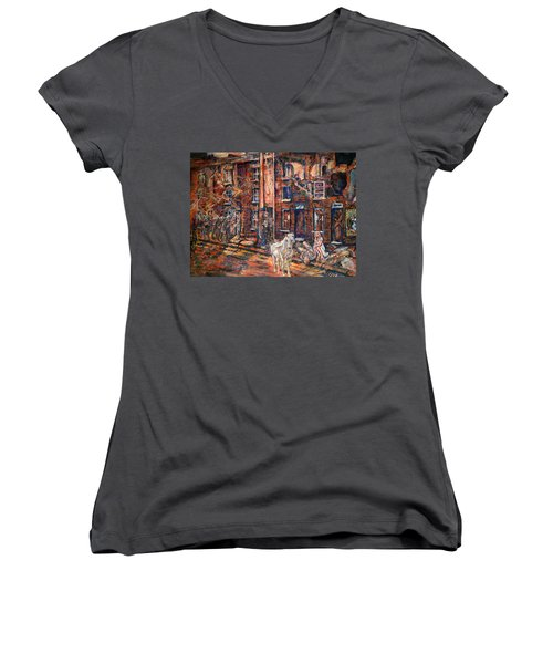 Before Gentrification Women's V-Neck (Athletic Fit)