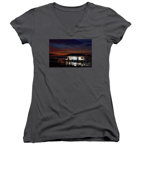 Before Sunrise Women's V-Neck T-Shirt (Junior Cut) by Diana Mary Sharpton