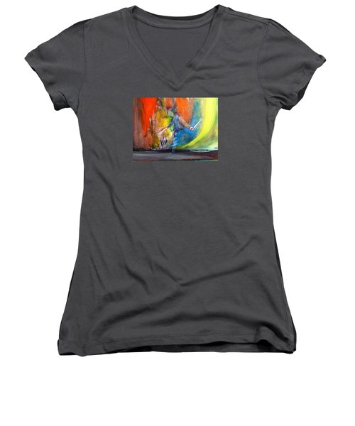 Before The Duel Women's V-Neck T-Shirt (Junior Cut) by Kicking Bear  Productions