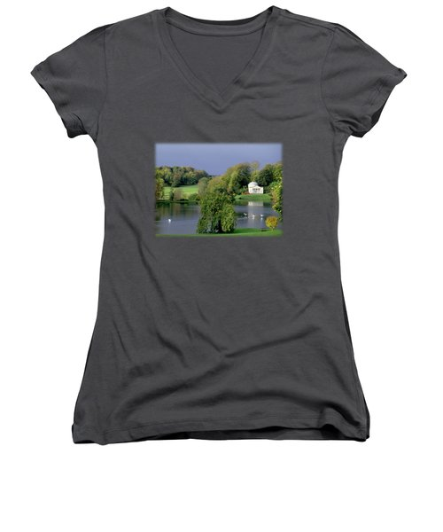 Before The Storm Women's V-Neck T-Shirt (Junior Cut) by Jon Delorme