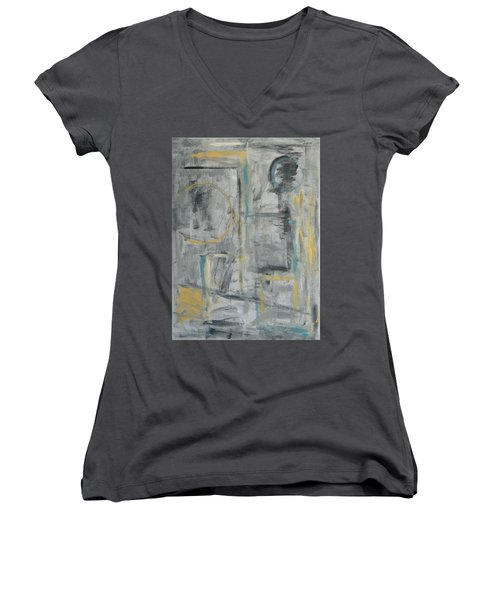 Behind The Door Women's V-Neck (Athletic Fit)