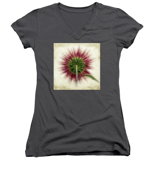 Behind The Sunflower Women's V-Neck (Athletic Fit)