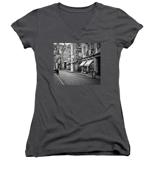 Behind The Walls 01 Women's V-Neck T-Shirt (Junior Cut) by Elf Evans