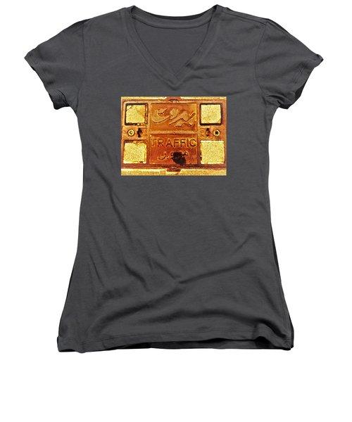 Beirut Traffic Women's V-Neck T-Shirt