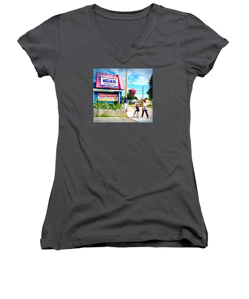 Bel Air  Women's V-Neck T-Shirt (Junior Cut) by Patricia L Davidson